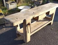 Lovely Rustic French Antique Workbench