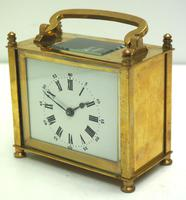 Interesting Antique French 8-day Carriage Clock Rectangle Design (4 of 9)