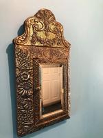 Antique Repousse Detail Cushion Mirror