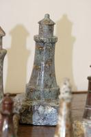 Rare Marble Collection of 9 Carved Lighthouse (14 of 15)