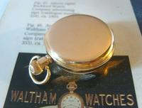 Antique Waltham Pocket Watch 1909 Ladies 7 Jewel 9ct Gold Filled Case With Curious Inscriptions Fwo (6 of 12)