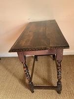 Antique Oak Side Table (5 of 6)
