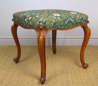 Good Early Victorian Mahogany Cabriole Stool (4 of 7)