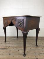 Antique 19th Century Carved Oak Lowboy Side Table (5 of 17)