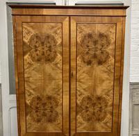 Burr Walnut Linen Press or Wardrobe (4 of 9)