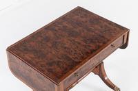 19th Century English Regency Burr Yew Sofa Table (4 of 10)