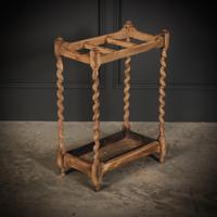 Bleached Raw Oak Umbrella / Stick Stand (3 of 8)