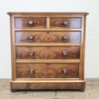 Victorian Mahogany Straight Front Chest of Drawers (11 of 11)
