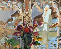 Stunning Original Art Deco Style Contemporary Figural Still Life Oil Painting (9 of 10)