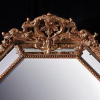 Large 19th Century French Octagonal Gilt Cushion Mirror (2 of 4)
