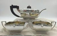 Superb Indian Art Deco Sterling Silver Tea Set Bartons Bangalore Heavy Gauge (3 of 8)