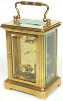 Antique French Classic 8-Day Carriage Clock Classic Case with Enamel Dial (2 of 5)