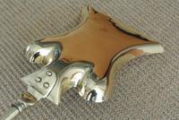 Quality Victorian Brass Fire Irons Companion Set Tongs Poker Shovel c.1895 (6 of 9)