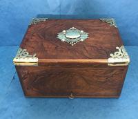 Victorian Brassbound Walnut Cigar Box (8 of 19)