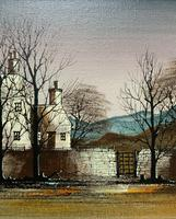 Ronald Folland (1932-1999) Original Signed Winter Village Landscape Oil Painting (4 of 12)