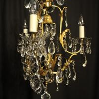 French Gilded Birdcage Antique Chandelier (2 of 7)