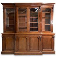 Mid-19th Century Breakfront Bookcase