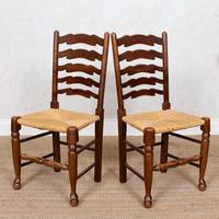 6 Oak Elm Rushwork Country Dining Chairs (4 of 10)