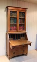 Arts & Crafts Oak Bureau Bookcase (5 of 11)