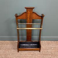 Superb Victorian Oak Antique Stick Stand / Umbrella Stand (3 of 5)