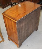 1960's Yew Wood Bow Front Chest of Drawers (2 of 4)