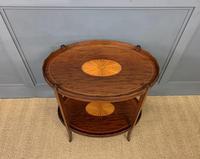 Edwardian Inlaid Mahogany 2 Tier Table (3 of 10)