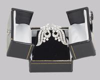 Art Deco Platinum Diamond Earrings 1930s Floral Scroll Clip On Antique Earrings (9 of 10)