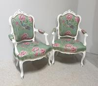 Wonderful Pair of French Painted Chairs (2 of 13)