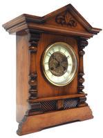 Light Mahogany Bracket Mantel Clock Architectural Striking 8 Day Mantle Clock (6 of 6)