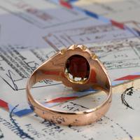 The Antique Edwardian 1904 Rose Gold Garnet Ring (5 of 6)