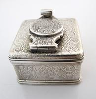 Beautiful silver travelling inkwell London c 1830 (5 of 8)