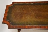 Antique Regency Style Mahogany Leather Topped Coffee Table (2 of 8)