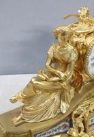 French Napoleon III Bronze Gilt Mantel Clock by Miroy Freres (6 of 13)