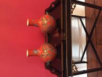 Pair of Chinese Red Oxide Five Claw Dragon Vases c.1900 (2 of 10)
