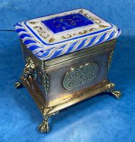 Arts & Crafts Glass and Brass Single Tea Caddy. (9 of 18)