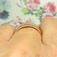 English Antique 9ct Rose Gold Wedding Band 1920's (9 of 10)