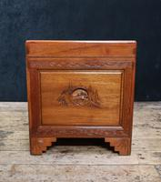 Early 20th Century Oriental Carved Teak and Camphor Wood Chest (5 of 12)