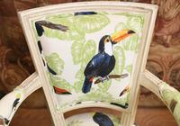 Pair of Painted Arm Chairs Regency Toucan Print Interiors (4 of 5)