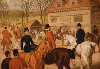 "Oil Painting by Edward Benjamin Herberte ""The Meet at Stonebridge"" (3 of 6)"