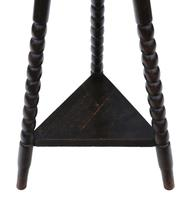 C1910 Carved Oak Tripod Occasional Side Table (3 of 4)