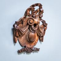 Carved Walnut Cartouche (2 of 6)