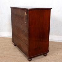 Filing Cabinet 19th Century Mahogany Birdseye Maple (10 of 10)