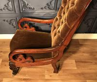 Victorian Mahogany Scroll Arm Nursing Chair (5 of 9)
