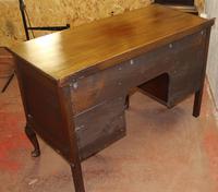 1920s Mahogany Pedestal Desk on Cab Legs. 1 Piece (4 of 4)