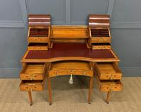 Inlaid Satinwood Carlton House Desk by Jas Shoolbred (11 of 25)