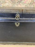 Leather & Brass Bound Camphor Wood Trunk (5 of 5)