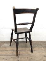 Pair of 19th Century Elm Bar Back Farmhouse Chairs (6 of 7)