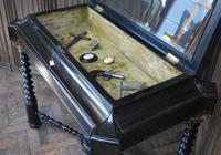 Ebonised Bijouterie / Vitrine Cabinet Table (5 of 8)