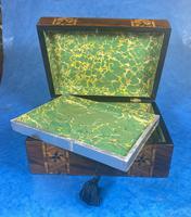 Victorian Walnut Tunbridge Ware P Box (8 of 9)