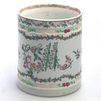 Fine & Unusual Chinese Famille Rose Export Porcelain Tankard 18th Century (2 of 9)